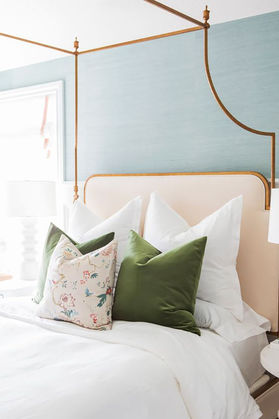 Gold frame headboard