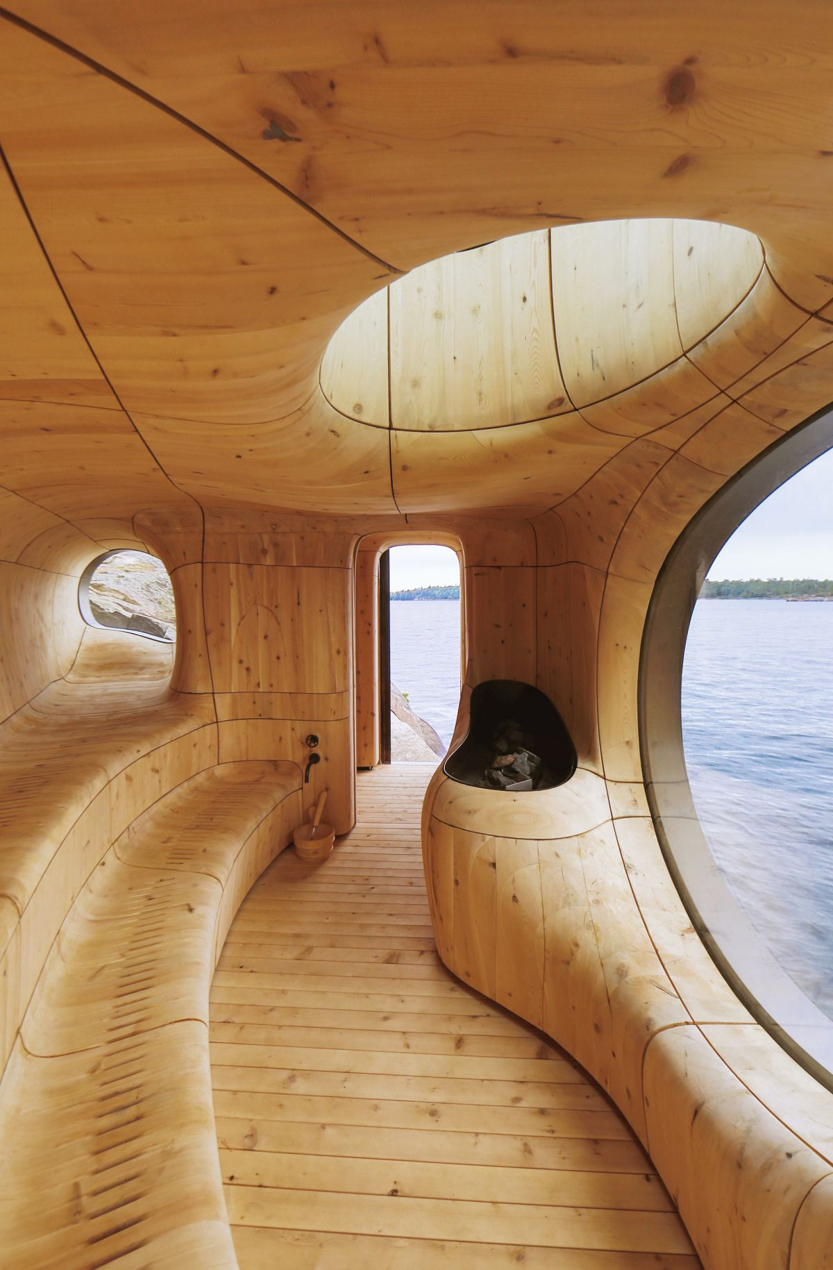 Grotto Sauna by Partisans Seating