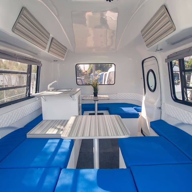 HC1 travel trailer interior