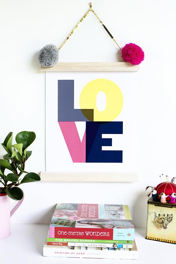 Hanging love print