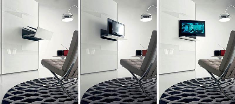 Hidden TV on Wall