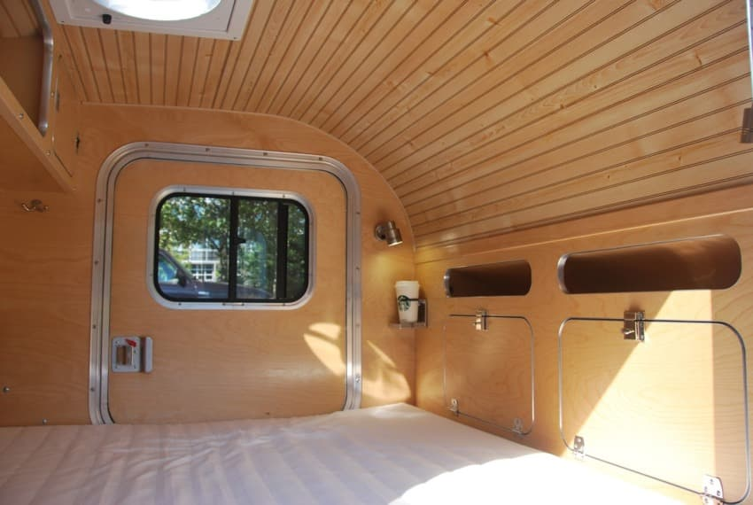 High camp teardrop trailer interior
