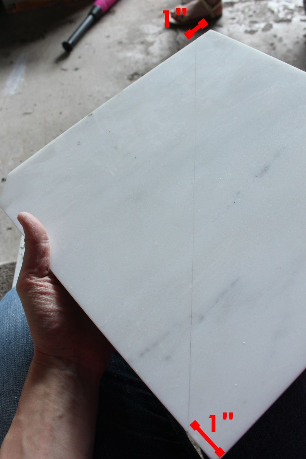 Holding your marble tile