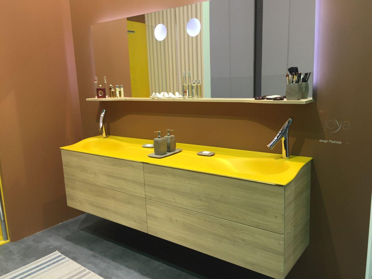 Joya design mathilde bathroom in yellow for salone del mobile