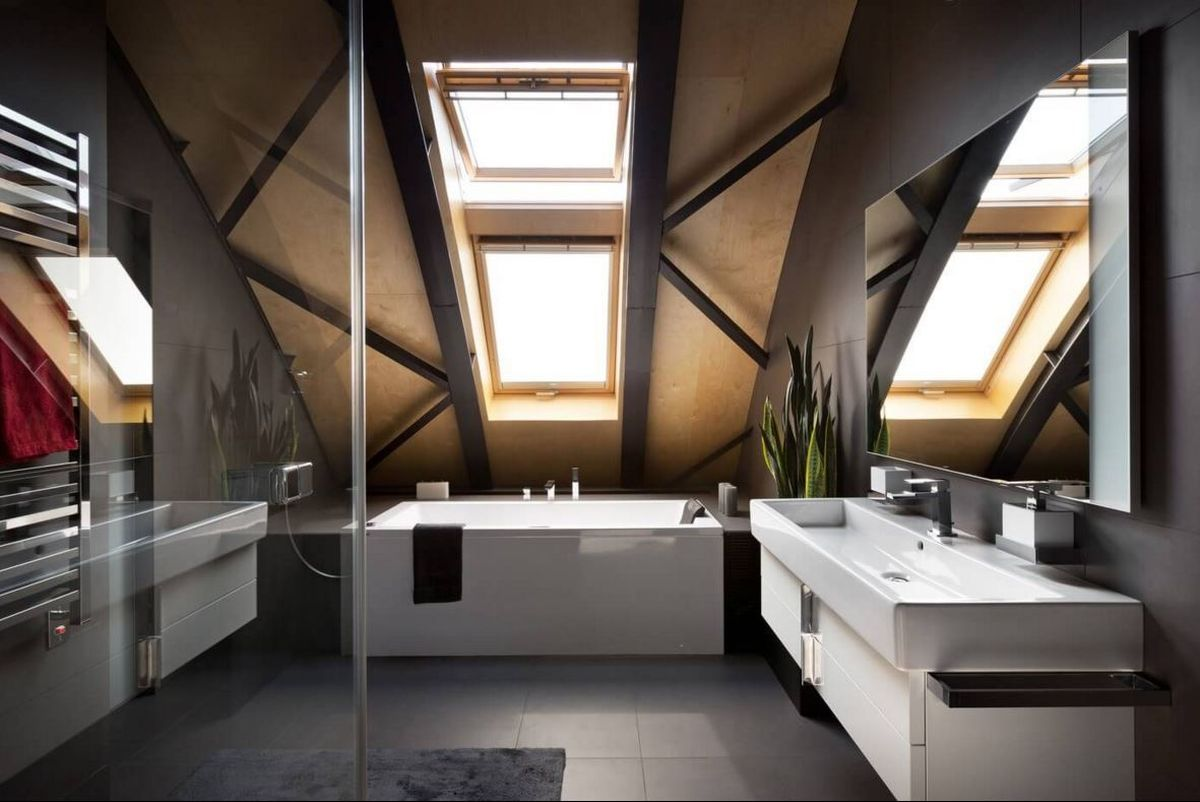 Kiev loft renovation bathroom