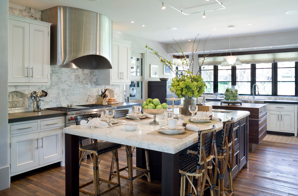 These 20 stylish kitchen island designs will have you for Large kitchen island ideas with seating