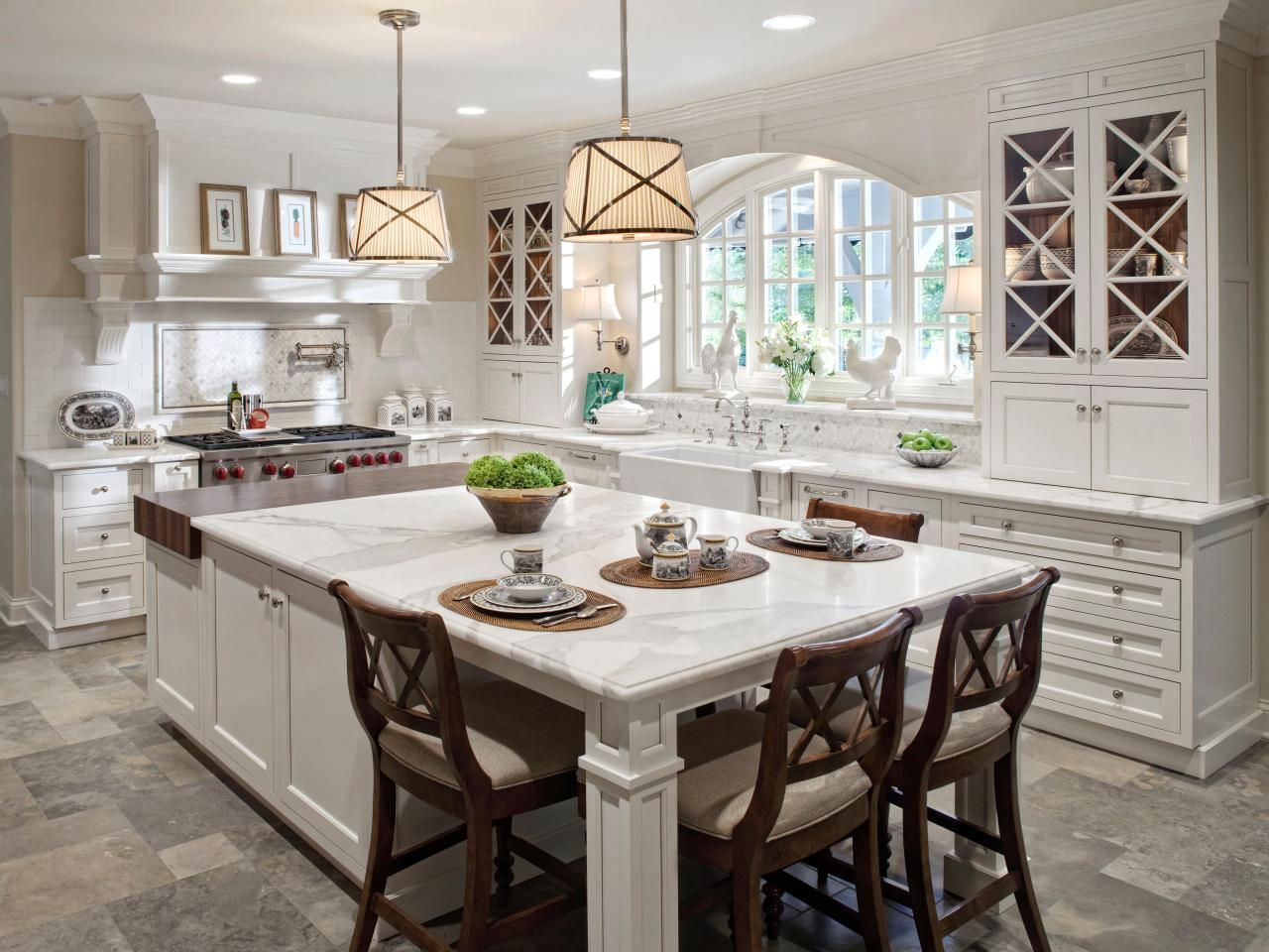 These 20 stylish kitchen island designs will have you for Kitchen island bench
