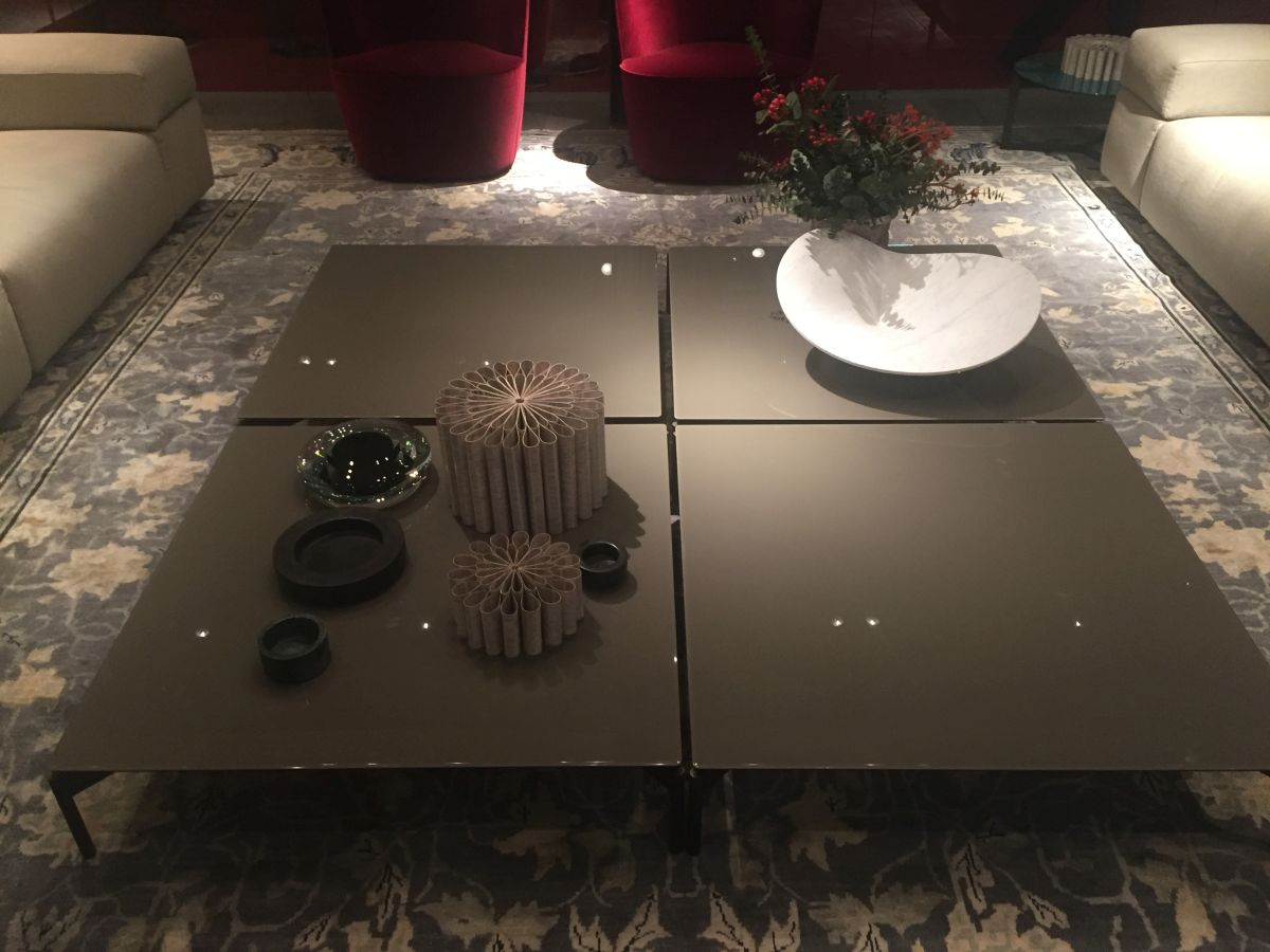 Laquared square coffee table