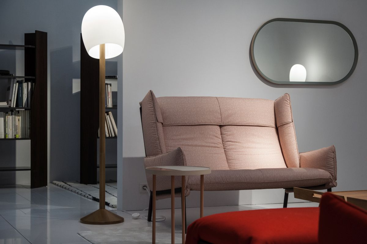 Ligne roset small couch for reading nook comfort