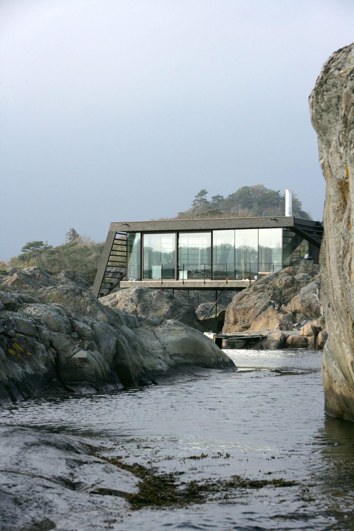 House On Stilts Embraces The Rocky Norwegian Landscape