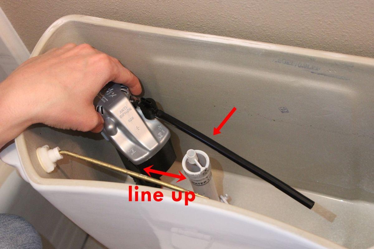 Line up valve corner