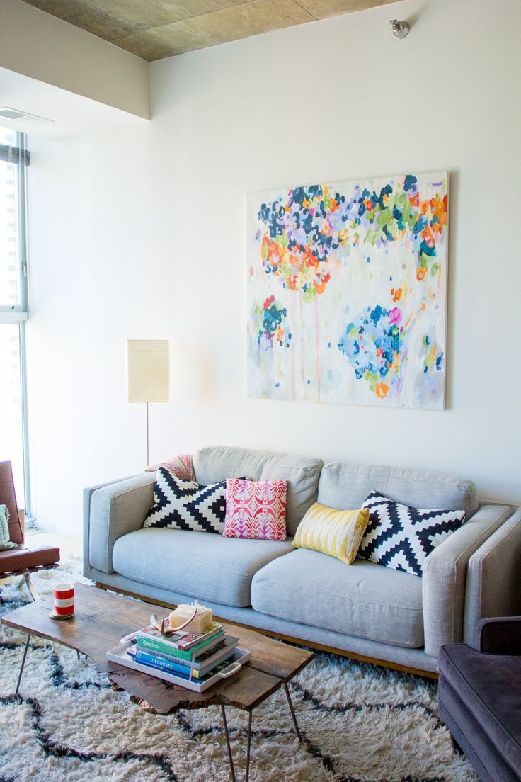 Living room statement art