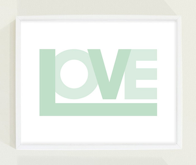 Awesome Love Mint Print