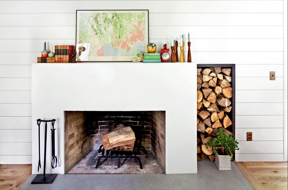 Map mantel decor