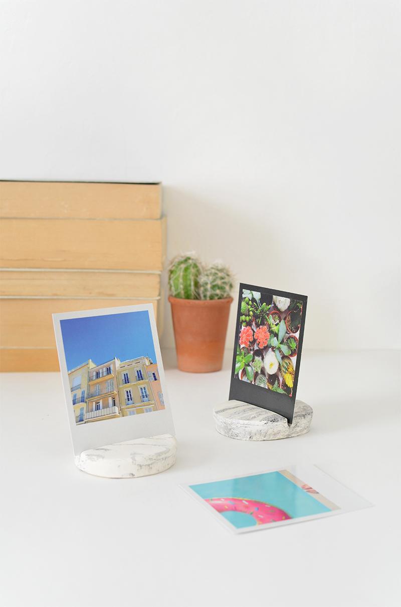 Marble photo holder