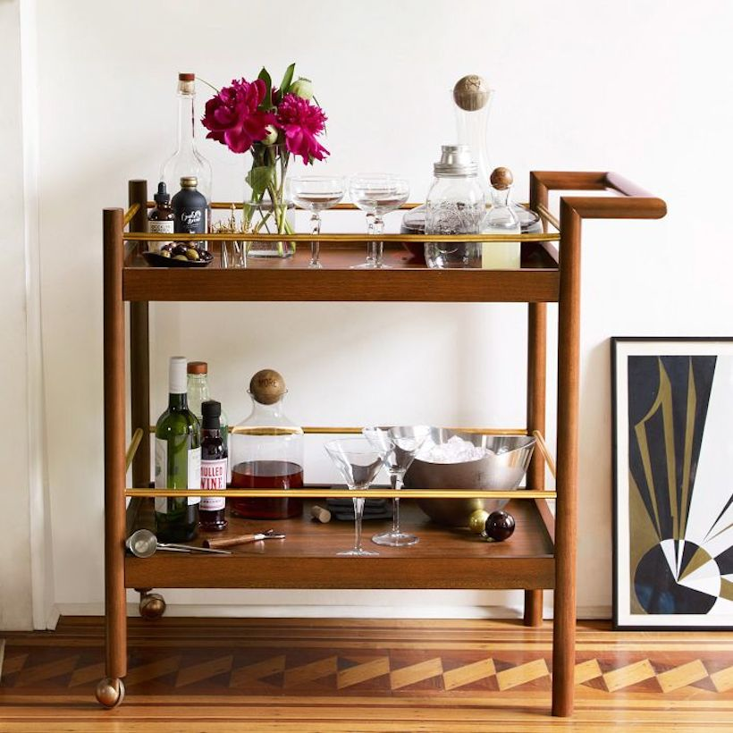Lovely 12 Must Have For A Stylish Bar Cart