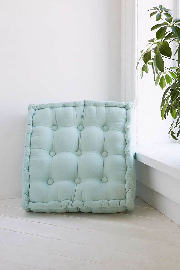 Mint floor pillow