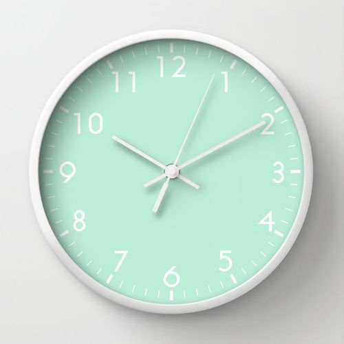 Mint wall clock
