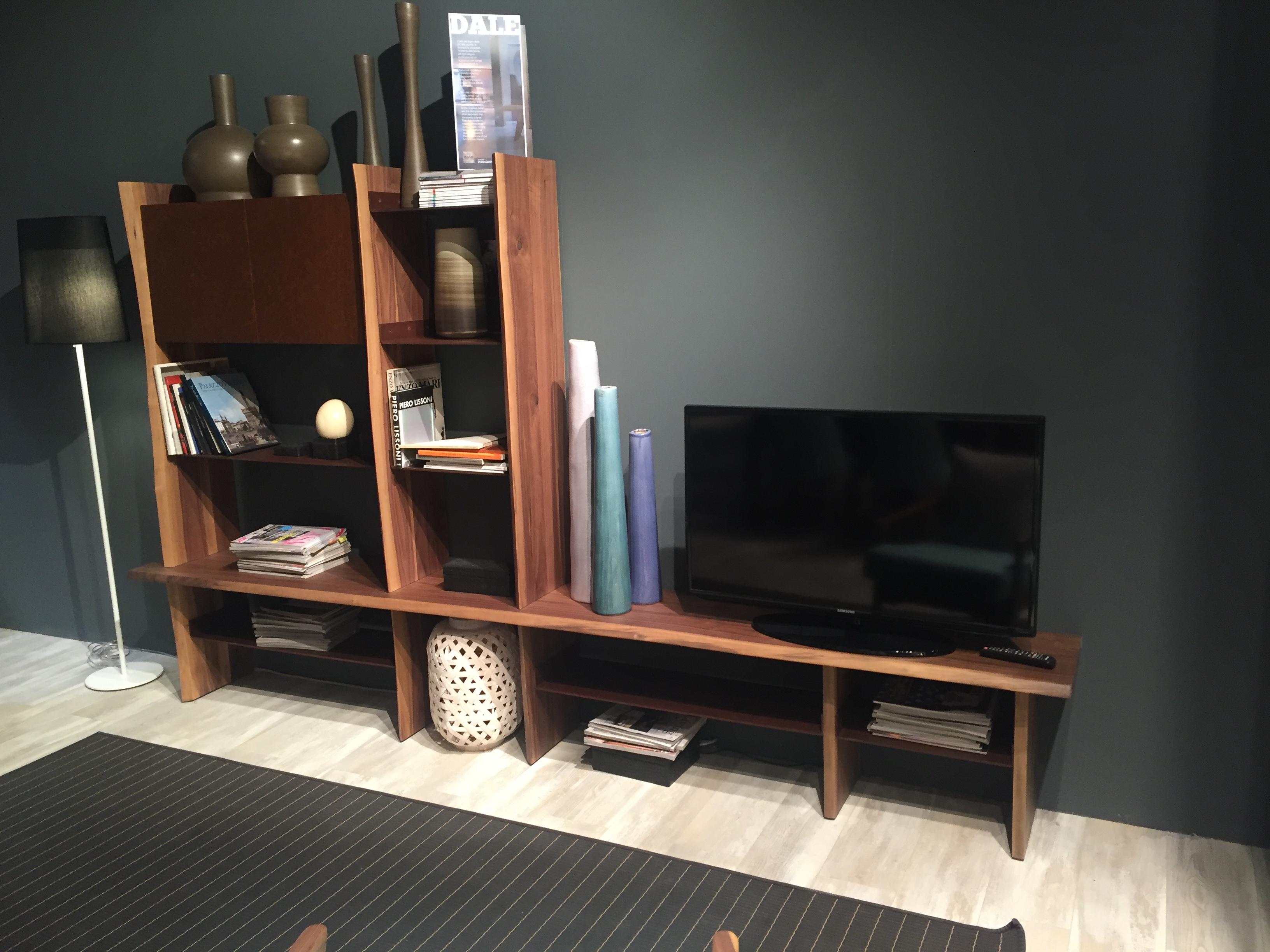 Modular wood tv console