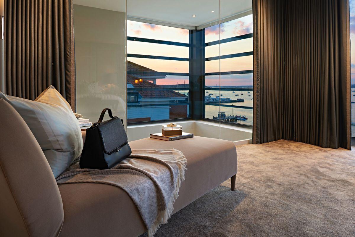 Moondance apartment block bedroom curtains