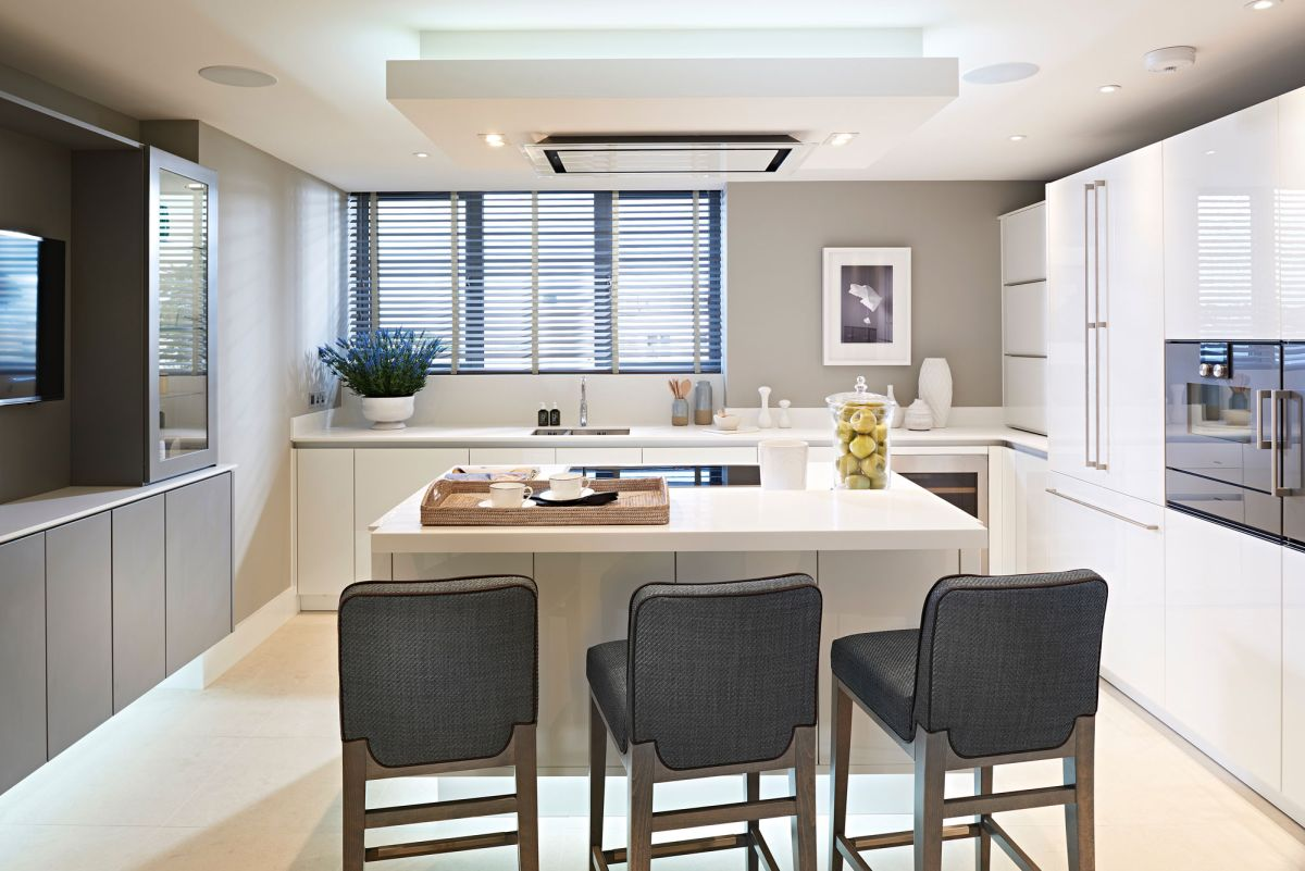 Luxury apartment block built to resemble a contemporary house for David james kitchen designs