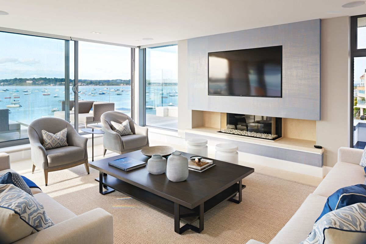 Moondance apartment block living area view in gallery
