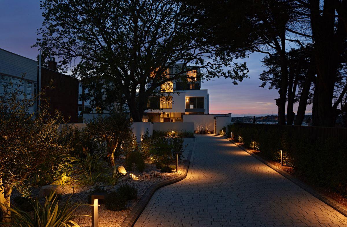 Moondance apartment block sunset view