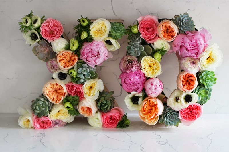 Mothers day floral letters