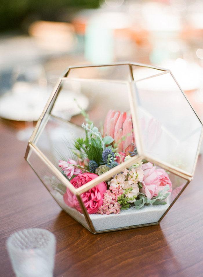 Mothers day floral terrarium
