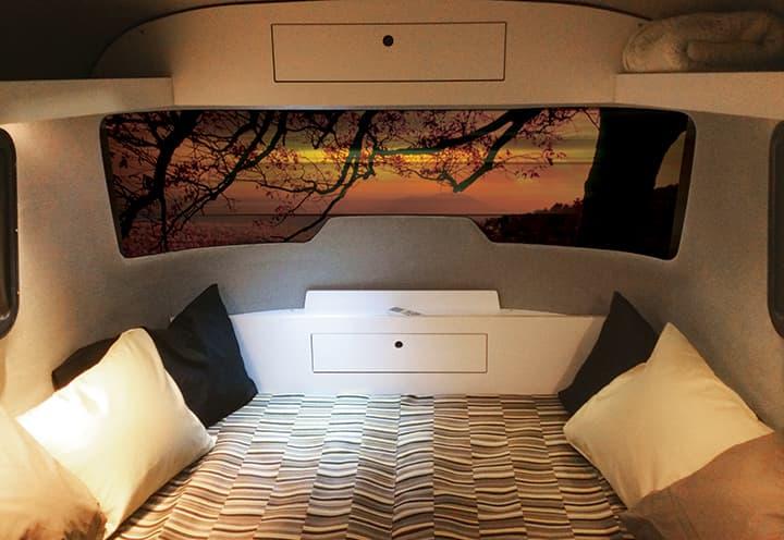 Nest caravan deign bed