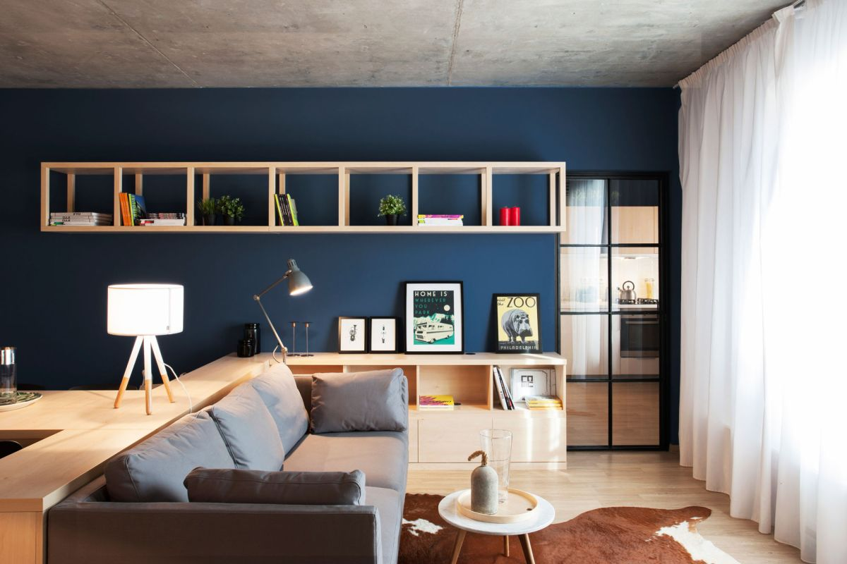 No.3 apartment living area bookcase