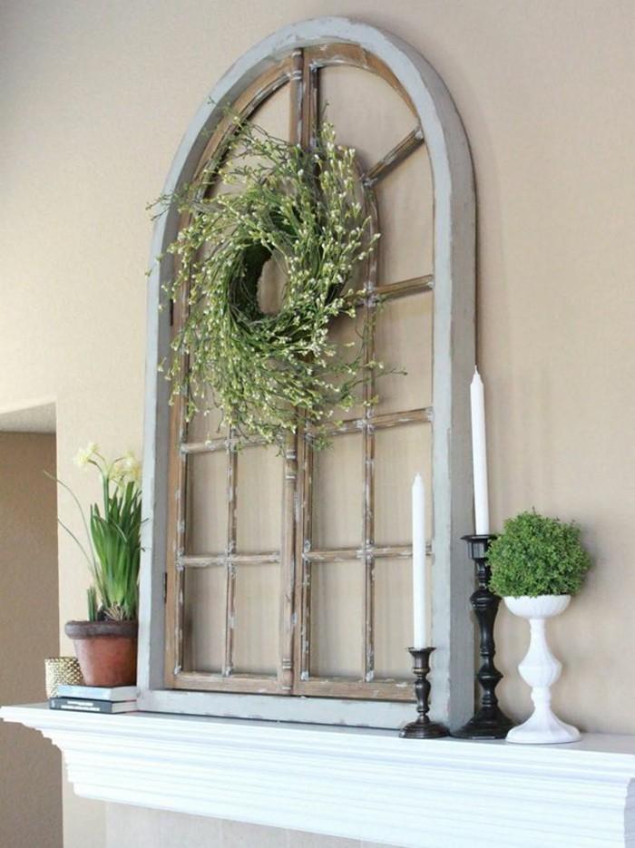Old window wall decoration