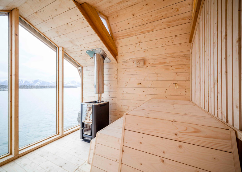 Oslo School of Architecture and Design Sauna -wood