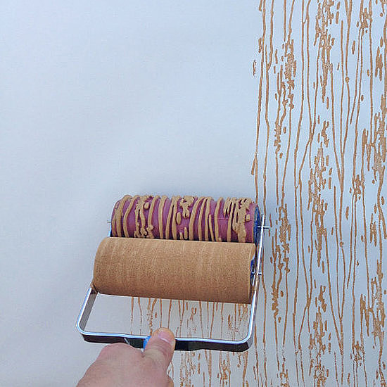 Paint rollers to create cool walls