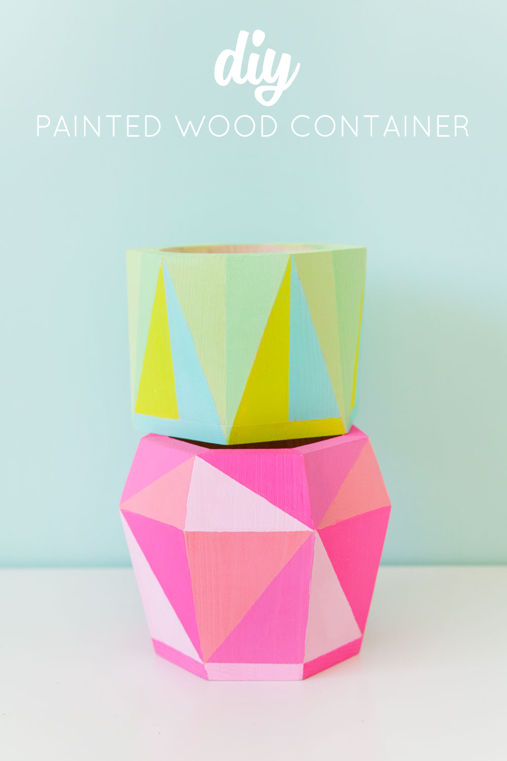 Painted wood containers