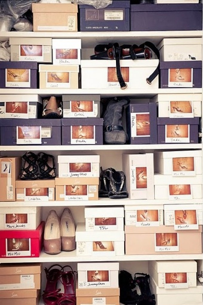 Photo boxes shoe storage