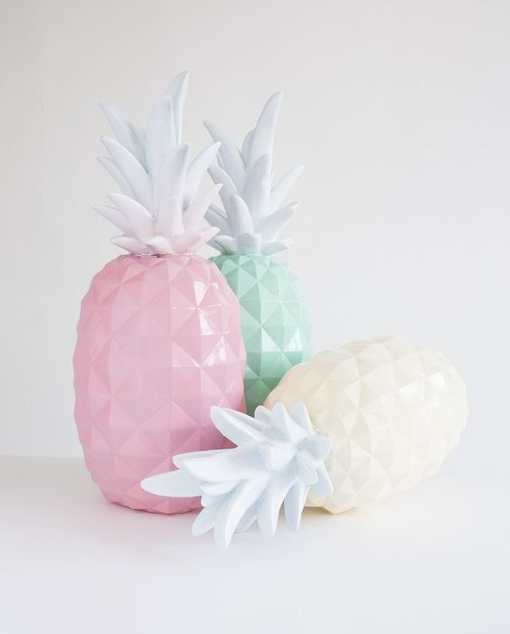 Pineapple mint and pink colors