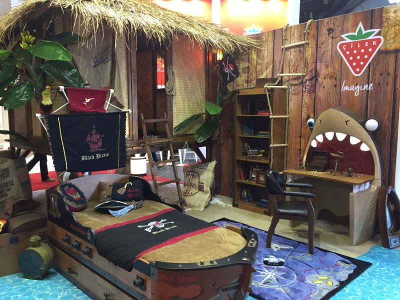 fun and playful furniture ideas for kids bedrooms rh homedit com pirate themed baby boy room Black and White Themed Rooms