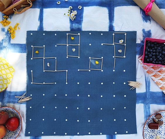 Portable squares game