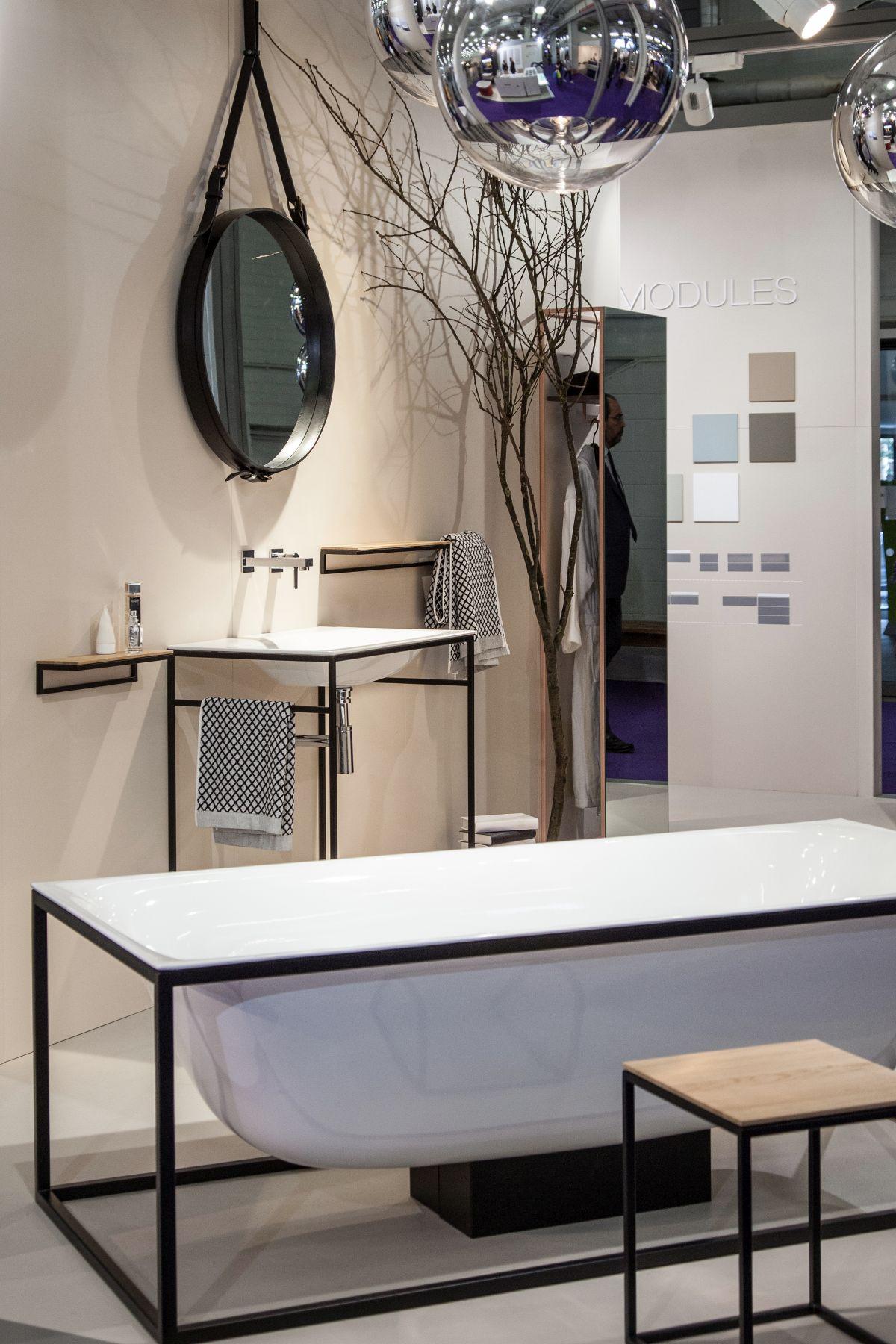 Rectangular frame bathroom design