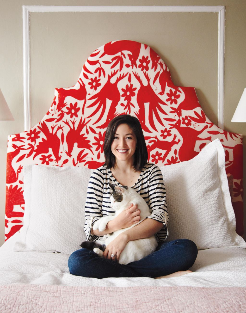 Red Young Feminine Headboard