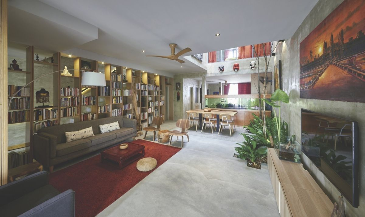 Reinvented courtyard home in Malaysia social space