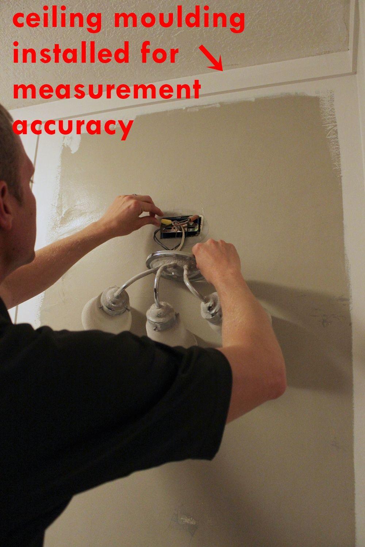 Remove lighting fixtures