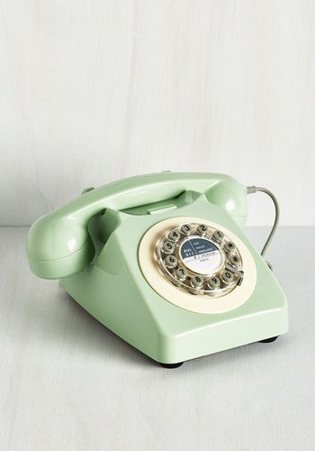 Retro mint telephone