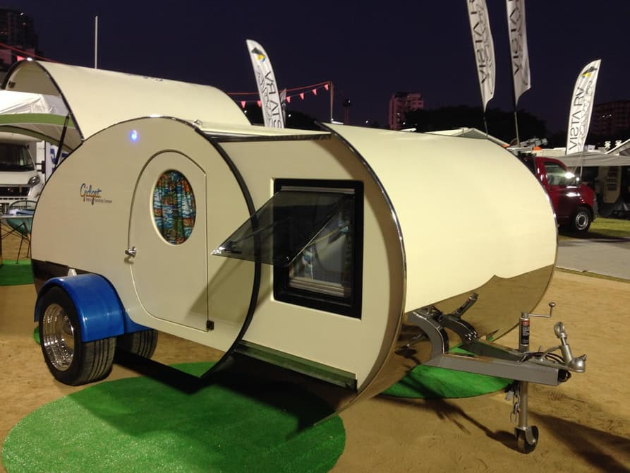 Retro teardrop c&er exterior & 15 Small Camper Trailers With Which To Enjoy The Outdoors
