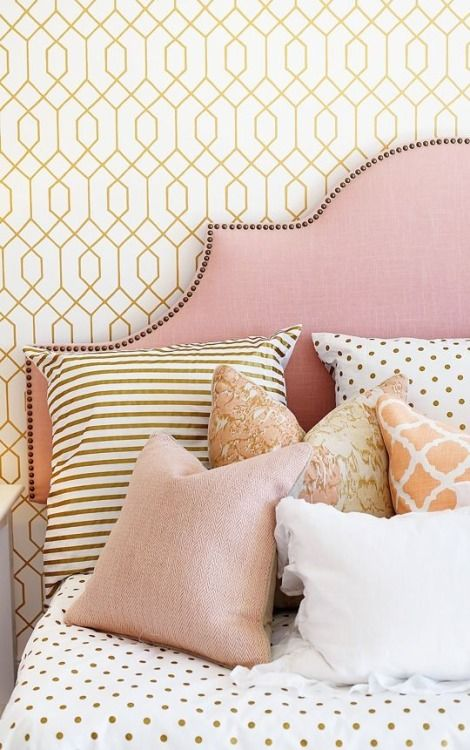 Rosey Blush Studs headboard