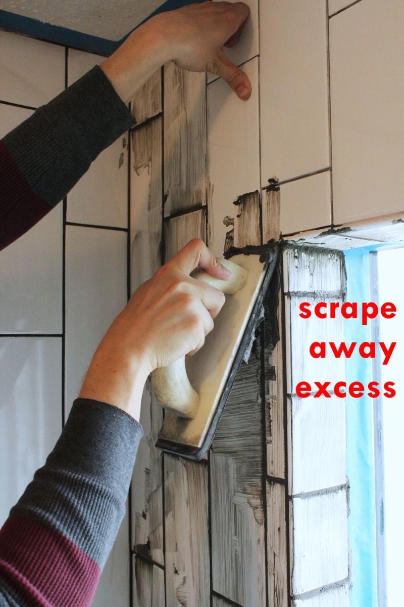 Scrape away excess