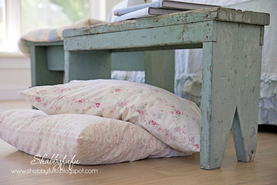 Shabby chic floor pillows