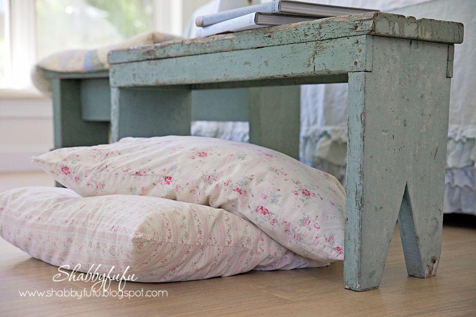 Shabby chic floor pillows