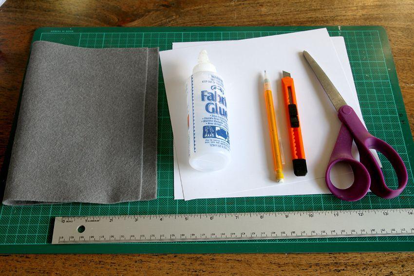 Simple Folded Felt Bowls Materials